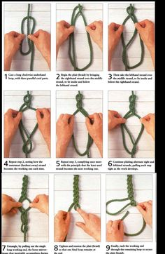 braid with one rope – I can see some jewelry/bracelet applications
