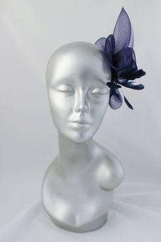 Coiffe bleu crin chapeau