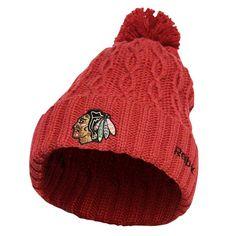 Chicago Blackhawks Women's Red Knit Winter Hat