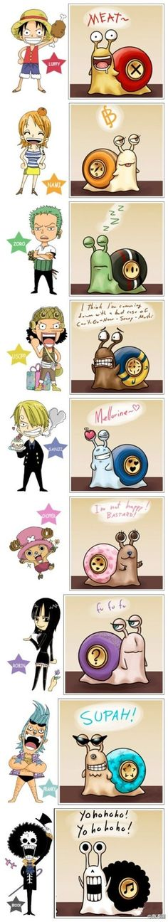 Luffy, Nami, Zoro, Usopp, Sanji, Chopper, Robin, Franky and Brook | One Piece
