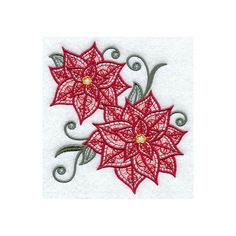 Decorative Machine Embroidered Light and Lovely Poinsettias Design... ($18) ❤ liked on Polyvore featuring home, bed & bath, bath, bath towels, embroidered hand towels, embroidered bath towels, cotton bath towels, embroidered guest towels and cotton hand towels