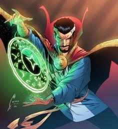 Marvel Doctor Strange, Doc Strange, Strange Art, Arte Dc Comics, Marvel Comics Art, Marvel Heroes, Marvel Characters, Comic Books Art, Comic Art