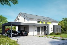 Celebration 211 V4 - Bien Zenker - http://www.hausbaudirekt.de/haus/celebration-211-v4/ - Fertighaus als Modernes Haus Stadthaus Zweifamilienhaus mit Satteldach