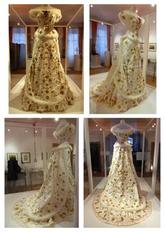 A replica of Empress Sisi's 1879 diamond wedding anniversary dress.This montage shows a replica of one of Sisi's most famous dresses, shown in this and this image. This dress photographed from the front is also found here. Anniversary Dress, Wedding Anniversary, Wedding Dress Tumblr, Wedding Dresses, Historical Costume, Historical Clothing, Empress Sissi, Kaiser Franz, Vintage Dresses