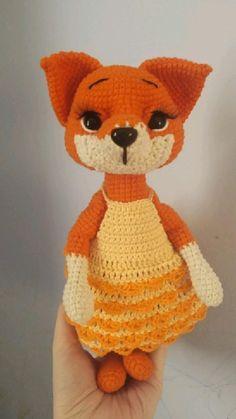 Handmade Toys, Handmade Crafts, Handmade Ideas, Cute Fairy, Diy Doll, Crochet Toys, Fun Crafts, Crochet Patterns, Fox