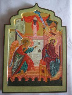 Благовещение - Annunciation   by ШКОЛА ПРОСОПОН / PROSOPON SCHOOL Saints, Prayers, Images, Marvel, Angels, Painting, School, Art, Murals