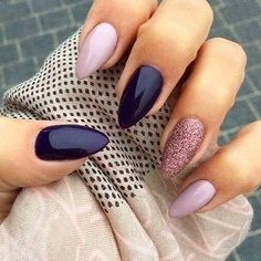 Pin For Trend Presented Trendy Almond Nail Designs For Beautiful Girls - Nail Art Images 2019 - 2020 (Latest Nail Polish Ideas And Images) Dark Color Nails, Dark Nails, Nail Colors, Burgendy Nails, Oxblood Nails, Magenta Nails, Nails Turquoise, Purple Nail Art, Pink Nail