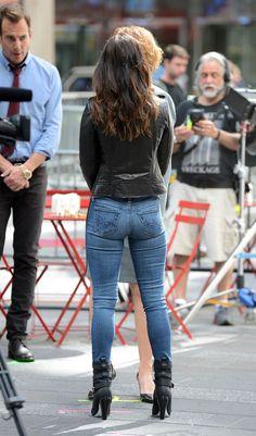 Megan Fox on the set of Teenage Mutant Ninja Turtles 2
