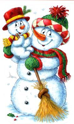 Resultat d'imatges de ilustraciones navidad joaquin baro Christmas Card Images, Christmas Clipart, Vintage Christmas Cards, Christmas Pictures, Christmas Greetings, Christmas Rock, Merry Christmas And Happy New Year, Christmas Snowman, Christmas Crafts