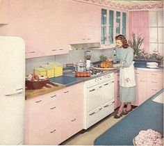 This was my kitchen in the house I owned in Kauai, except it wasn't pink.  I love the pink!