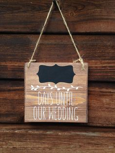 This mini wedding countdown sign makes a great engagement gift for a newly engaged couple. We all know the excitement we feel on the lead up to our wedding, enjoy counting down the days until the big day with our handmade wedding countdown sign. Our new wedding countdown for 2017, this adorable mini sign measures approximately 15cm x 14cm each and is supplied with chalk so you can count down the days until your wedding on the chalkboard panel at the top. This is a unique Bobby Loves Rosie…