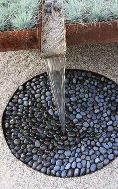 Beach/river rocks for drain surface