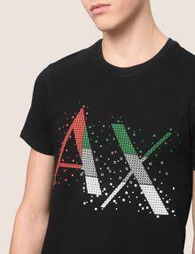ARMANI EXCHANGE PIXELATED PATCHWORK LOGO TEE Logo T-shirt Man b