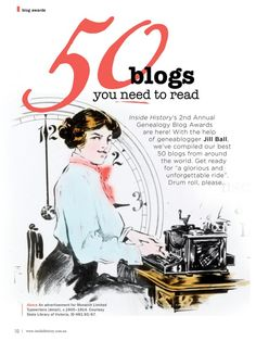 50 genealogy blogs---for mostly Australian and New Zealand users, but there are some really good worldwide links!