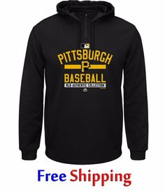 Pittsburgh Pirates Therma Base Fleece Hoodie XL 1/4 Zip Pullover Majestic NWT #Majestic #PittsburghPirates
