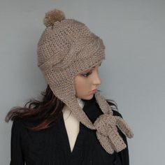 Beautiful Knit Trapper Hat. Choose your colour. by WoolyThinker, $33.00