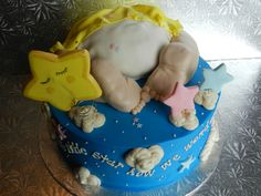 baby reveal cake. inside 6 inches colored cake...it was a boy