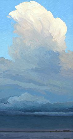"Peter Rotter, Thunderhead, 20"" x 40"" ,Oil on Canvas, 2013"
