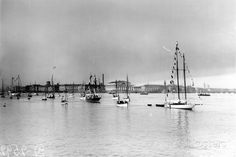 Flotilla of Yachts on the River Neva to Celebrate the Bicentenary of St Petersburg, May 1903