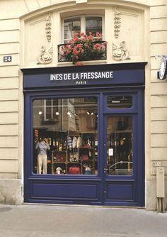 The Ines de la Fressange Paris boutique, rue de Grenelle.