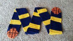 Basketball Scarf Crochet Pattern by spagotini on Etsy