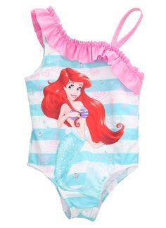 3e36feda4bc0b Little Mermaid Swimming Costume & Girls Shell Bikini Kids Girl ...