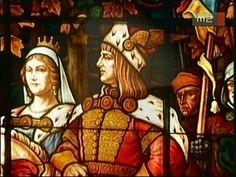 [Ólomüveg ablak - Mátyás magyar király és felesége, Beatrix] Hungary, Budapest, Stained Glass, Tiffany, Mona Lisa, Saints, Angels, Army, Paintings