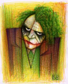 Why so Serious! illustrated by faboarts.deviantart.com #illustration #drawing #joker