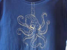 Hanging Octopus Shirt by AVRELIVS on Etsy, $18.00