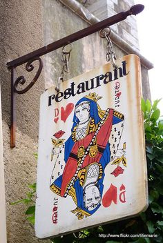 Saint-Tropez, France – Enseigne restaurant by liliemarie, via flickr