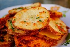 Baked parmesan garlic  chips