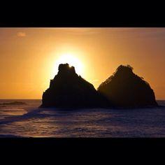 Pôr-do-sol visto em Fernando de Noronha (PE). Em qual cidade brasileira está seu entardecer preferido? Foto: wfelizola