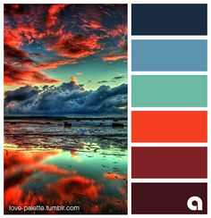 sunset over the water color palette Color Schemes Colour Palettes, Colour Pallette, Color Combos, Sunset Color Palette, Color Schemes Design, Color Balance, Design Seeds, Colour Board, Color Swatches