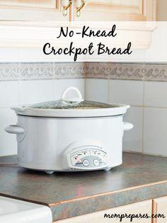 No-Knead Crockpot Bread