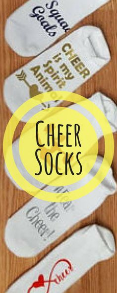 $6. custom cheerleading socks. Cheerleader gift. Cheer practice clothing/accessories/socks. Cheerleading coach gift. #cheerleading #ad