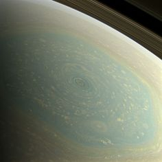 The north pole of Saturn, in the fresh light of spring, is revealed in this (true) color image from NASA's Cassini spacecraft. The north pole was previously hidden from the gaze of Cassini.