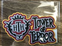 Die Cut Disney Tower of Terror