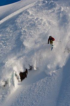 Zack Giffin skiing at Mt. Baker WA