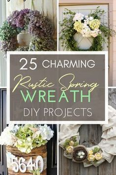 Nothing brings a breezy spring welcome to your home like a wreath - and ones that are in the rustic, farmhouse themes are the most inviting ones of all. Take a look at these 25 charming rustic spring wreaths - a DIY project for every skill level! #springwreath #springdecor #spring #springDIY #wreath #rustic