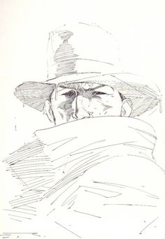 Esad Ribic - The Shadow (2), in Alan Henderson's The Shadow - Sketchbook Volume 3 Comic Art Gallery Room