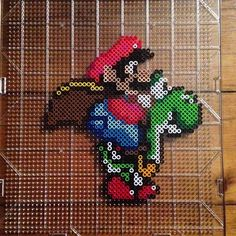 Super Mario perler beads by mastablasta3