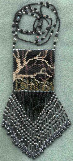 Wolf Peyote Beadwork Pattern Wood Spirits Very Easy by debbergs