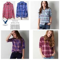 American Eagle Plaid 02 03 04 05 06 IDR 150k