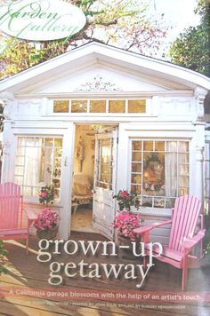 """Cindy Ellis Art: Our Garden House in """"Romantic Country"""" magazine ..."""
