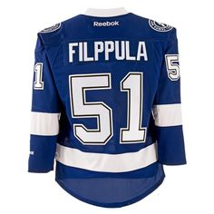 Reebok Valtteri Filppula Tampa Bay Lightning Home Premier Replica Hockey Jersey  #NHL #MyTBSports #TBLightning #GoBolts #TampaBayLightning #Hockey #BeTheThunder #Sports #Apparel #Jersey #Filppula