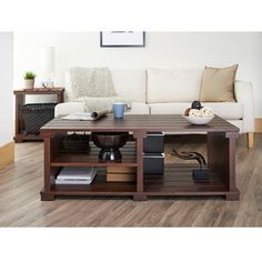 @Overstock - Furniture of America Torplank Country Style Planked 3-Shelf Coffee Table - Accentuate rustic touches with this plank-inspired country style coffee table. The three open shelves easily store small or large pieces while the vintage walnut finish provides a relaxing and quiet ambiance.  http://www.overstock.com/Home-Garden/Furniture-of-America-Torplank-Country-Style-Planked-3-Shelf-Coffee-Table/9352157/product.html?CID=214117 ZAR              2991.40