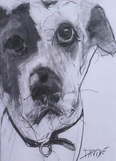 Valerie Davide dogs originals for sale Animal Sketches, Animal Drawings, Art Drawings, Drawing Animals, Illustrations, Illustration Art, Scribble Art, Dog Sounds, Dog Artwork