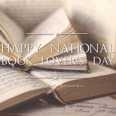 Happy National Book Lover's Day!