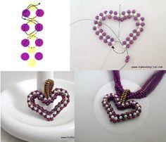 Beading Valentine's Heart Pendant.