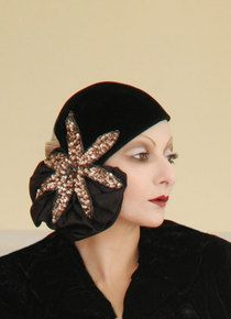 Catherine Baba wears Schiaparelli hat from the BillyBoy* Collection, photo: BillyBoy* & Lala